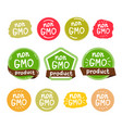 non gmo product icon isolated logo vector image