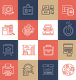 Office Life Icons on Color Tiles vector image vector image