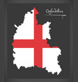 oxfordshire map england uk with english national vector image vector image