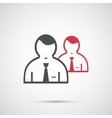 People design 2 man icon vector image