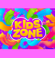 playroom banner kid game zone cartoon funny vector image