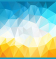 polygonal square background summer blue sky vector image vector image