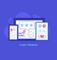 positive customer feedback concept vector image