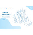 quality assurance concept assured result app vector image vector image