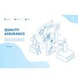 quality assurance concept assured result app vector image