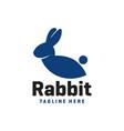 rabbit animal modern logo vector image vector image