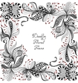 red black and white floral pattern vector image vector image