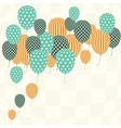 Retro Pattern Balloons vector image