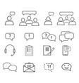 set of customers relationship icons vector image