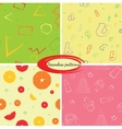 set seamless backgrounds for packaging vector image