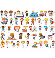 set simple characters vector image vector image