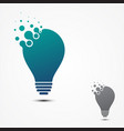 simple bulb pixel design in flat style vector image vector image