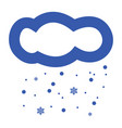 snowing cloud icon vector image