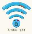 speed internet test wifi vector image