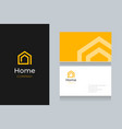 spiral-home-logo-with-business-card vector image