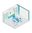 stomatology dentistry isometric cabinet vector image vector image