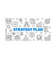 strategy plan concept linear vector image