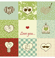 Stylish set of nine hearts vector image vector image