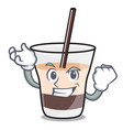 successful white russian character cartoon vector image