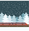 Train in the forest banner vector image