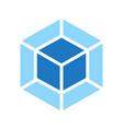 webpack emblem blue coub on white bg vector image vector image