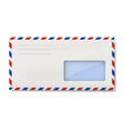 White avia DL envelope with window for address vector image vector image