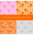Wildlife zoo collection of cute cartoon animals vector image