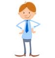 young man or businessman cartoon character vector image