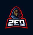 zed e-sport mascot logo design vector image