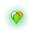 Balloons in irish colors icon comics style vector image