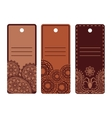 Ethnic design labels set vector image