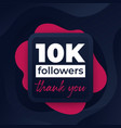 10k followers greeting banner for web