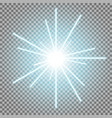 abstract laser beams with sparks aqua color vector image vector image