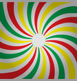 abstract multi-colored three color striped spiral vector image vector image