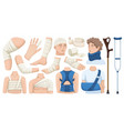 bandage cartoon icon set collection