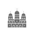basilica sacred heart landmark paris vector image vector image