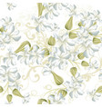 beautiful seamless wallpaper pattern with flowers vector image vector image