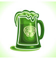beer mug for st patricks day vector image