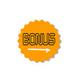 bonus circular star icon isolated sticker badge vector image
