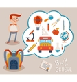 Bubble with Education Icons on Gray Backgrounds vector image vector image