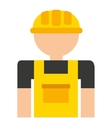 builder avatar isolated icon design vector image vector image