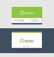 business cards template with mansion green color vector image