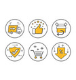 business ecommerce icon set vector image