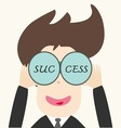 Business man looking success vector image vector image