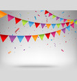celebration background with bunting flags vector image vector image