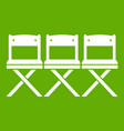 chairs icon green vector image