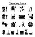 cleaning house hygiene icon set vector image