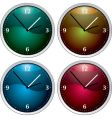 clock variation vector image vector image