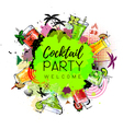 Cocktail party poster design vector image vector image