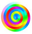 colorful rainbow spiral vector image
